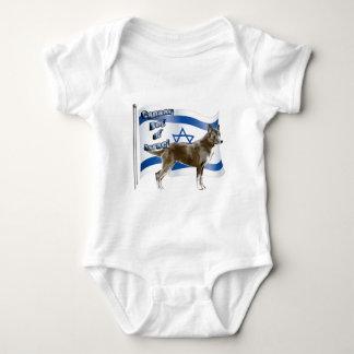 イスラエル共和国のCanaan犬 ベビーボディスーツ