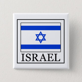 イスラエル共和国ボタン 5.1CM 正方形バッジ