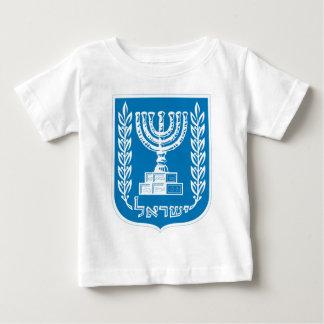 イスラエル共和国-イスラエル共和国のシールおよび盾の紋章付き外衣 ベビーTシャツ