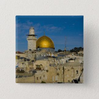 イスラエル共和国、エルサレムの石のドーム 5.1CM 正方形バッジ