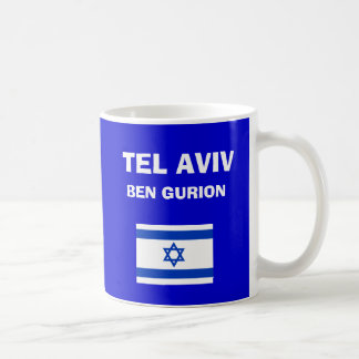 イスラエル共和国-ベンGurion (テル・アビブ) TLV空港コードマグ コーヒーマグカップ