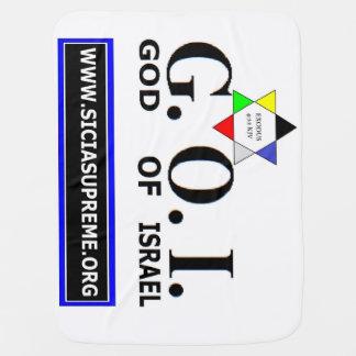 イスラエル共和国-毛布(赤ん坊)のG.O.I.=の神 ベビー ブランケット