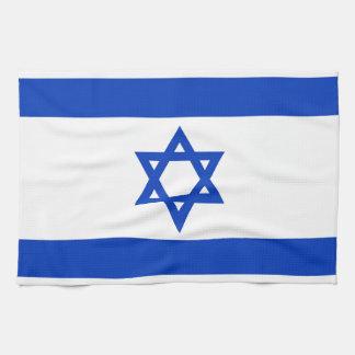 イスラエル共和国-確実な版の国旗 キッチンタオル