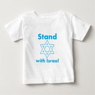 イスラエル共和国- Magen Davidが付いている立場 ベビーTシャツ