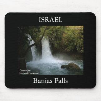 イスラエル共和国Baniasの滝のマウスパッド マウスパッド