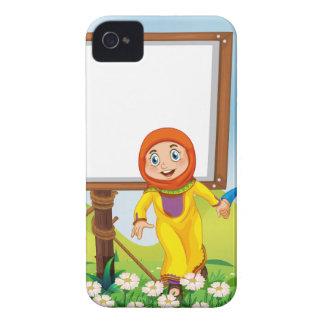 イスラム教のカップルとのボーダーデザイン Case-Mate iPhone 4 ケース