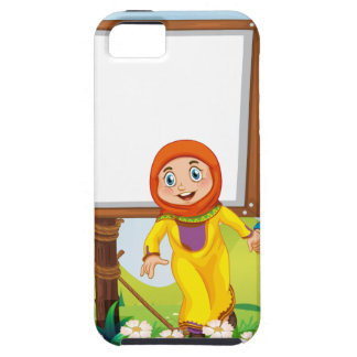 イスラム教のカップルとのボーダーデザイン iPhone SE/5/5s ケース