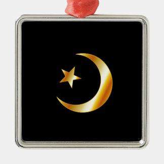 イスラム教の宗教の記号 メタルオーナメント