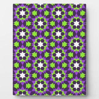 イスラム教の幾何学的なパターン フォトプラーク
