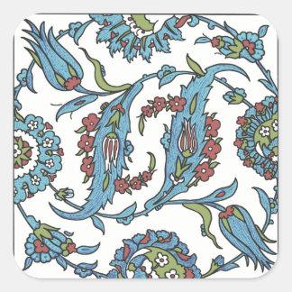 イスラム教の花のセラミックタイル#1の正方形のステッカー スクエアシール