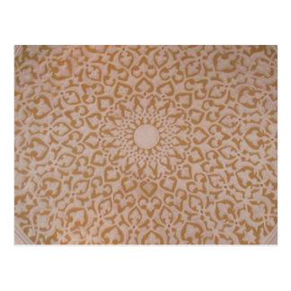 イスラム教の芸術および幾何学的設計 ポストカード