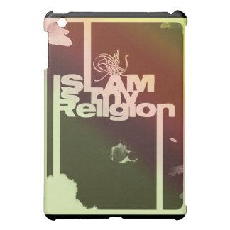 イスラム教は私の宗教-イスラム教のタイポグラフィのプリントです iPad MINIケース