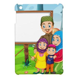イスラム教家族とのボーダーデザイン iPad MINIケース