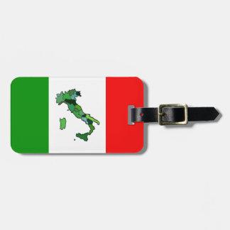 イタリアおよびイタリアンな旗の地図 ラゲッジタグ