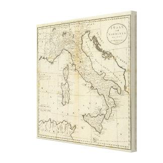 イタリアおよびサルジニア キャンバスプリント