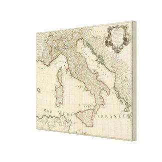 イタリアおよびスロベニア キャンバスプリント