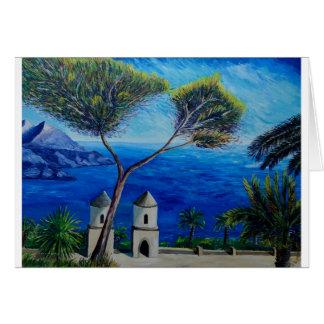 イタリアのアマルフィの海岸で青いすべて カード