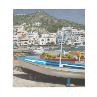 イタリアのカンパニア州、(ナポリの湾)、ISCHIA、 ノートパッド