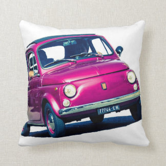 イタリアのクラシックな車のクッションの紫色のフィアット500 クッション