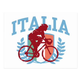 イタリアのサイクリング(女性) ポストカード