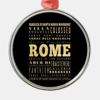 イタリアのタイポグラフィの芸術のローマ都市 メタルオーナメント