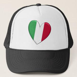 イタリアのハートの旗 キャップ