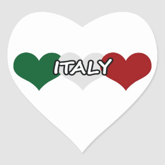 イタリアのハート ハートシール