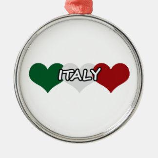 イタリアのハート メタルオーナメント