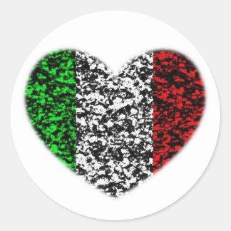 イタリアのハート ラウンドシール