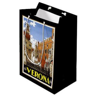 イタリアのベロナ都市 ミディアムペーパーバッグ