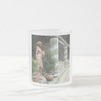 イタリアのロマンチックなマグ-スタイル、色を選んで下さい フロストグラスマグカップ