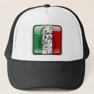 イタリアの光沢のある旗 キャップ