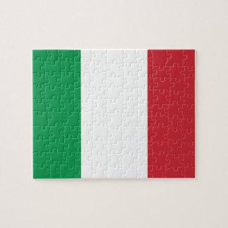 イタリアの国民の世界の旗 ジグソーパズル