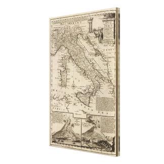 イタリアの地図 キャンバスプリント