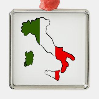 イタリアの地図 メタルオーナメント