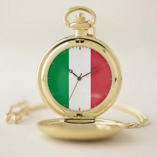 イタリアの愛国心が強い壊中時計の旗 ポケットウォッチ