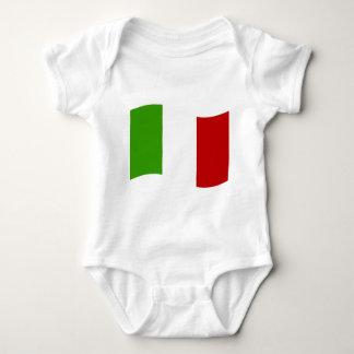 イタリアの振る旗 ベビーボディスーツ