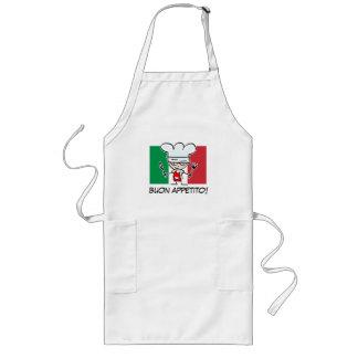 イタリアの旗が付いているイタリアンなシェフBBQのエプロン ロングエプロン