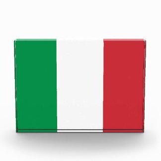 イタリアの旗が付いている賞 表彰盾