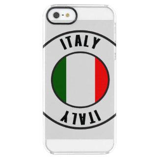 イタリアの旗のシンプルな暗闇 クリア iPhone SE/5/5sケース