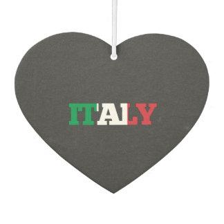 イタリアの旗のフォント カーエアーフレッシュナー