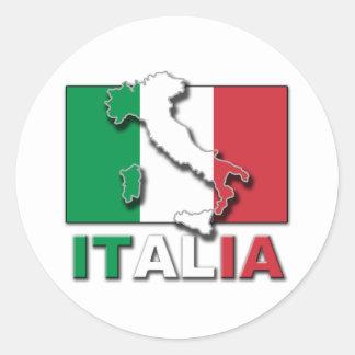 イタリアの旗の土地 ラウンドシール