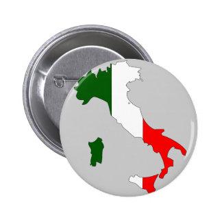 イタリアの旗の地図 5.7CM 丸型バッジ
