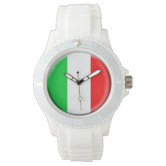 イタリアの旗の腕時計 リストウオッチ