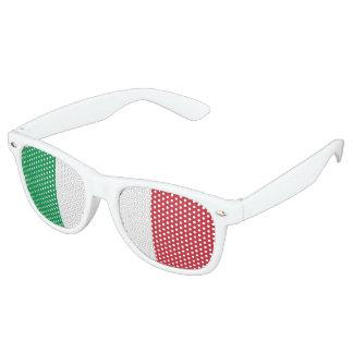 イタリアの旗、おもしろいのイタリア人の旗 レトロサングラス