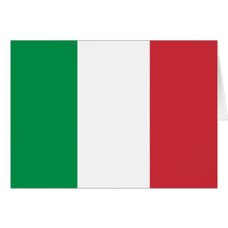 イタリアの旗 カード