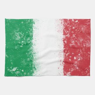 イタリアの旗 キッチンタオル