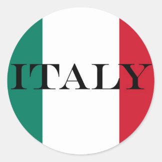 イタリアの旗 ラウンドシール