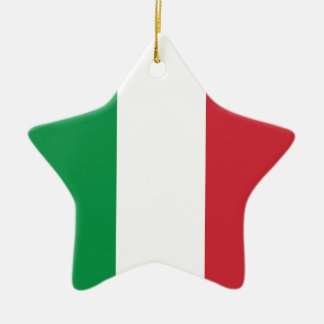 イタリアの明白な旗 セラミックオーナメント