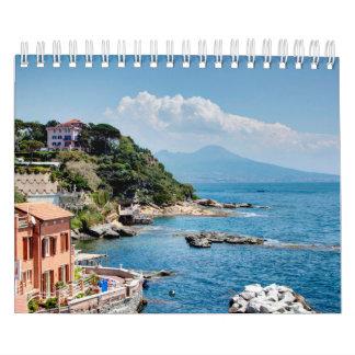 イタリアの景色の季節 カレンダー